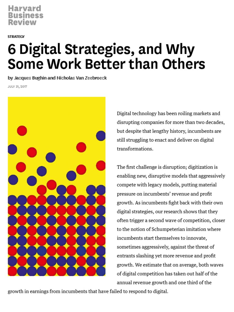 6 Digital Strategies and Why Some Work Better than Others (HBR)