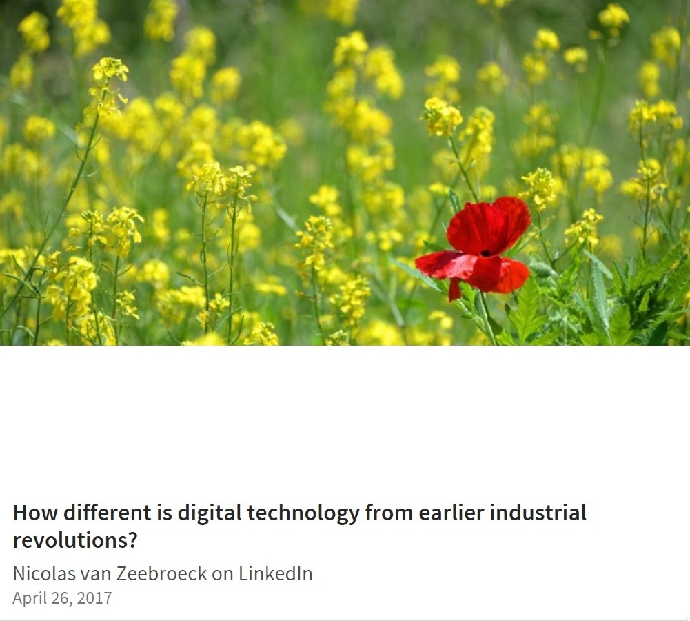 How different is digital technology from earlier industrial revolutions? (on LinkedIn)